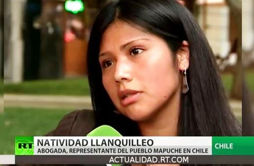 Captura reportaje RT mapuche