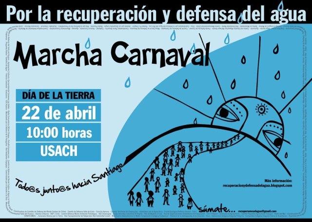 afiche marcha por el agua 22 abril