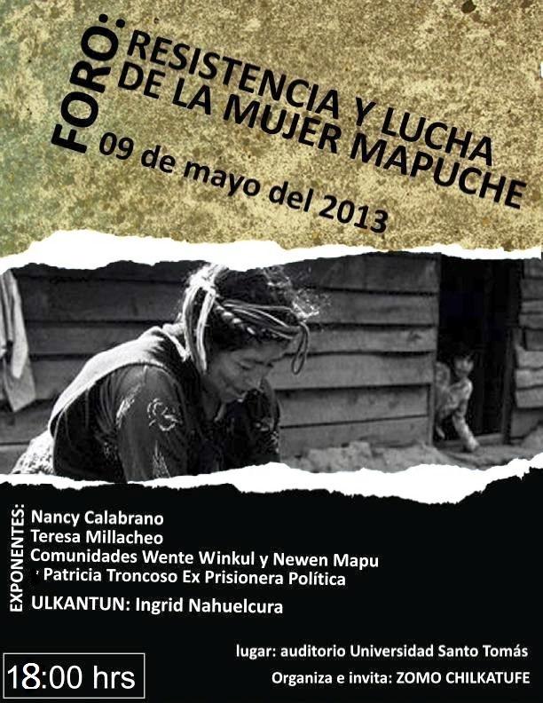 afiche foro mujer mapuche