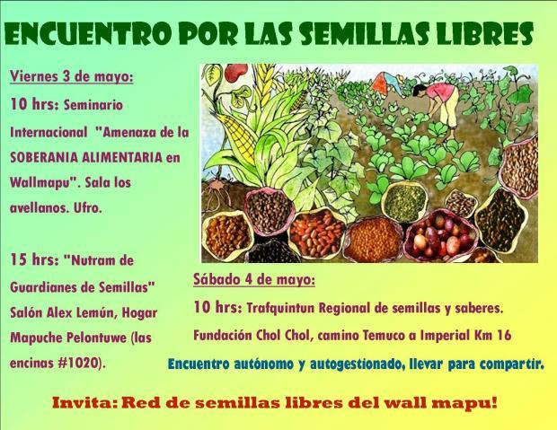 Encuentro de las semillas libres 3 y 4 de Mayo!