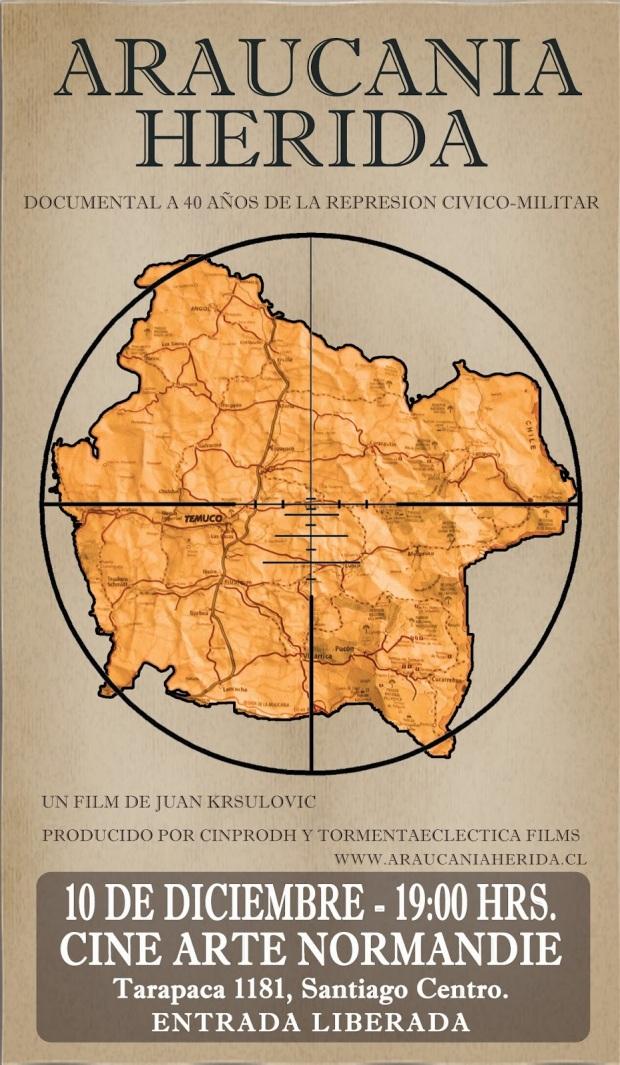 Afiche - Araucania Herida