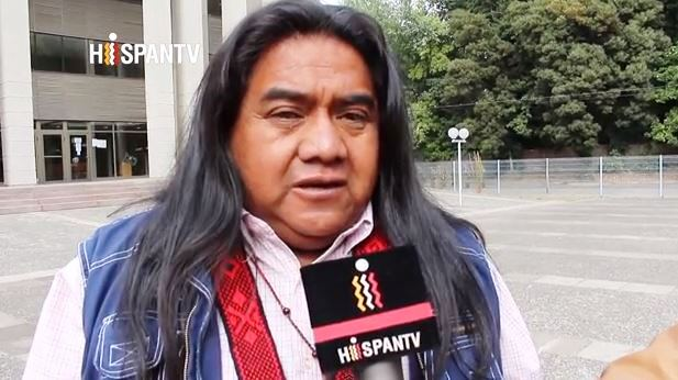 Captura nota hispantv Dirigentes Mapuche demandarán a Chile por espionaje policial (video)