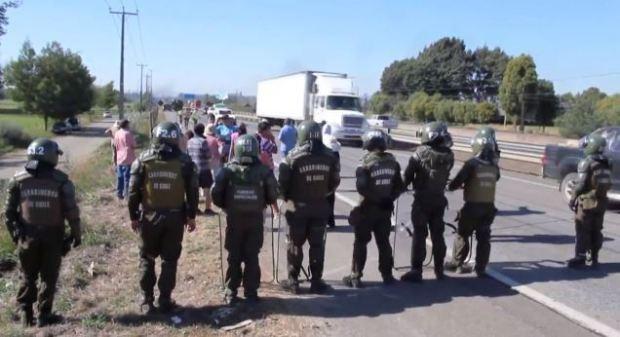 Captura nota hispantv Comunidades Mapuche demandarán al Estado chileno por violencia policial y detención de menores (video)