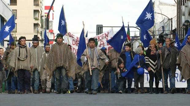 Movilización Mapuche por la recuperación y defensa del agua (video)