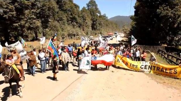 Captura Comunidades Mapuche confrontan a Endesa-Enel por construcción de galería de Central Neltume (video)
