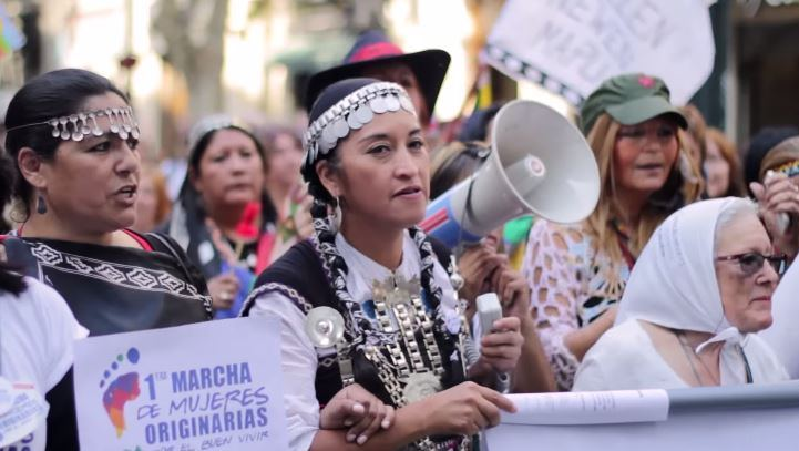 Captura Primera marcha de mujeres originarias por el buen vivir (video)