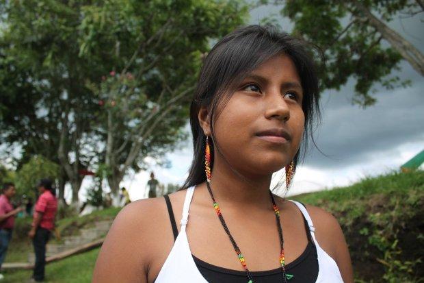Diana Collazos (Pueblo Nasa) La verdadera comunicación está en nuestras comunidades